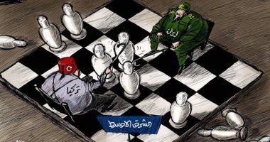كاريكاتير صحيفة سعودية.. إيران وتركيا يحولون الشرق الأوسط إلى لعبة شطرنج