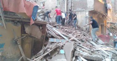 مصرع شخصين وإصابة 4 فى انهيار عقار قديم بالإسكندرية