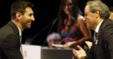 رئيس إقليم كتالونيا يوجه رسالة رقيقة لـ ميسى بعد إعلانه الرحيل عن برشلونة