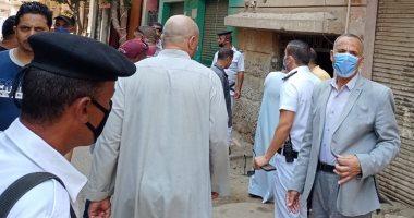 رفع وإزالة الإشغالات فى حملة مكبرة بمدينة ناصر ببنى سويف