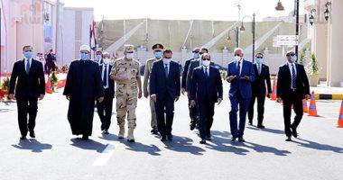 الرئيس السيسى يفتتح مسجد الشهيد فريق أول عبد المنعم رياض بالإسكندرية