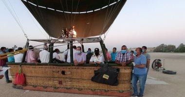 مطار البالون الطائر ينهى التجهيزات لاستئناف التحليق فى سماء الأقصر من جديد