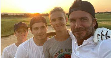 بيكهام فى صورة جديدة مع أبنائه: لا شىء أجمل من شعور الأب مع أولاده