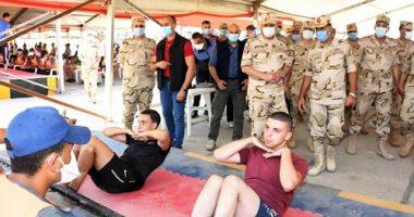 وزير الدفاع يتفقد إجراءات القبول بالكليات والمعاهد العسكرية.. فيديو وصور