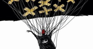 كاريكاتير صحيفة سعودية.. الصلوات والمساعدات ينقذان لبنان من السقوط