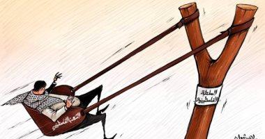 كاريكاتير صحيفة إمارتية يتناول القضية الفلسطينية