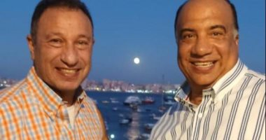 لقاء ودى يجمع محمد مصيلحى بـ الخطيب فى الإسكندرية