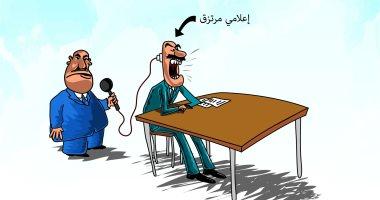 كاريكاتير صحيفة سعودية.. الإعلاميون المرتزقة يبثون سمومهم فى عقول المشاهدين