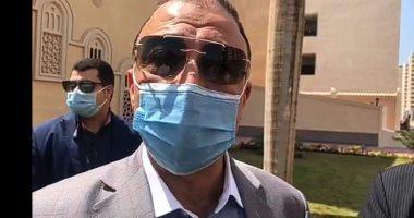 محافظ الإسكندرية ووكيل الأوقاف يؤديان صلاة الجمعة بمسجد الحق المبين بعد افتتاحه