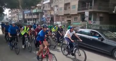 صور.. وزير الرياضة ومحافظ الشرقية يقودان مهرجانا للدراجات بشوارع الزقازيق
