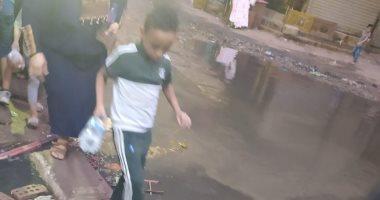 شكوى من الصرف الصحى فى شارع جمال عبد الناصر فى بشتيل بالجيزة