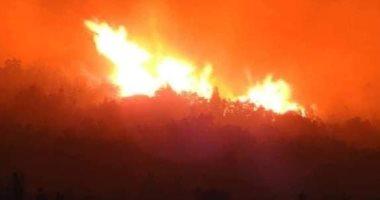 حريق هائل فى ريف مصياف بسوريا وفرق الإطفاء لم تسيطر عليه حتى الآن.. صور