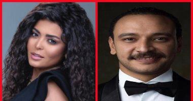 """أحمد خالد صالح وأسماء جلال يصوران """"أنصاف مجانين"""" فى المعادى"""