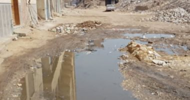 انتشار مياه الصرف الصحى بشارع الأوقاف فى منطقة الصفطاوى بالبراجيل