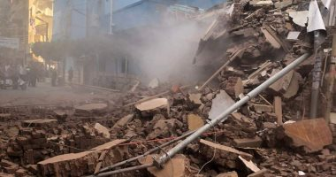 فيديو.. انهيار منزل مكون من 3 طوابق فى منطقة محب بالمحلة
