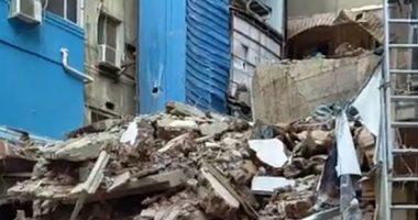 بث مباشر.. انهيار منزل مكون من 4 طوابق بالمحلة دون إصابات