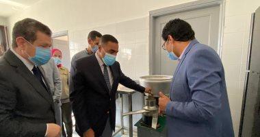 محافظ مطروح ورئيس الجامعة يفتتحان المعمل الإرشادى لتصنيع منتجات الألبان