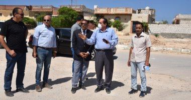 محافظ مطروح يتفقد منطقة حى الشروق بالكيلو 7