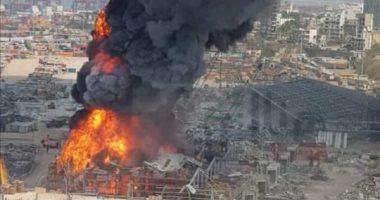 انفجار ضخم فى لبنان والدفاع المدنى يحاول السيطرة على الحريق