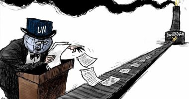 كاريكاتير صحيفة سعودية.. الغرب يجنى أرباح حروب الشرق الأوسط