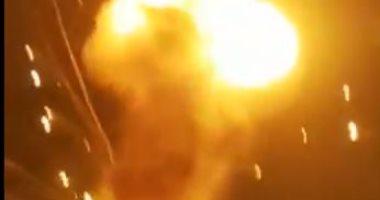 حريق فى قرية بجنوب لبنان وسماع دوى انفجار
