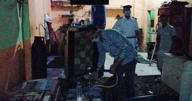 """ضبط مقهى مخالف يقدم """"شيش"""" لرواده فى حملات بمحافظة الأقصر"""