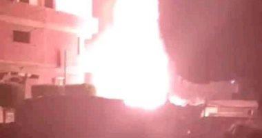 قارئ يشارك بصورة لانفجار محول كهرباء بقرية ميت حبيب فى الشرقية