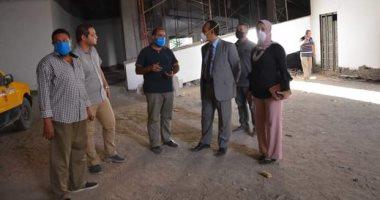 نائب محافظ المنيا يتفقد الأعمال الإنشائية بالمتحف الآتونى