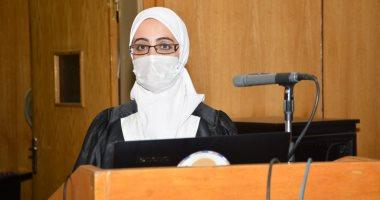 نائب رئيس جامعة أسيوط يشهد مناقشة أول رسالة ماجستير فى التربية رياض أطفال