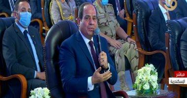 السيسى للمصريين: كل موضوع هنشتغل فيه هدفه مصلحة الدولة المصرية بشعبها