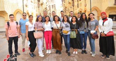 شباب المصريين الدارسين بالخارج فى زيارة لمشروع روضة السيدة زينب