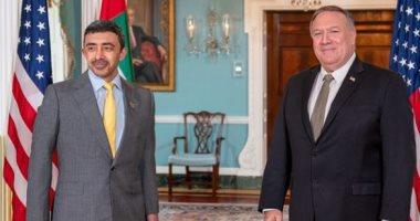 بومبيو بعد لقائه وزير خارجية الإمارات: علينا مواجهة نفوذ إيران الخبيث بالمنطقة