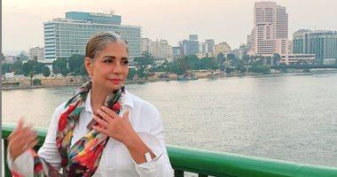 شاهد سوسن بدر فى أحدث ظهور لها على النيل