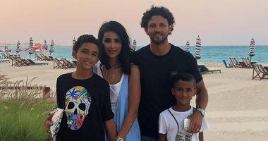 الكابيتانو حسام غالي يحتفل بعيد ميلاد نجله مع عائلته.. صور