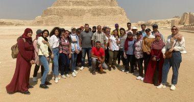 مركز زاهي حواس للمصريات بمكتبة الإسكندرية ينظم زيارة لمنطقة آثار سقارة