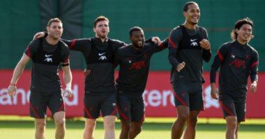 ضحك ولعب في تدريبات ليفربول قبل مواجهة تشيلسى
