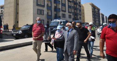 محافظ بورسعيد يتفقد مشروع الإسكان الاجتماعي المرحلة الثالثة ببورفؤاد