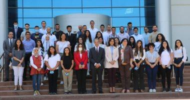 وزارة الهجرة تنظم زيارة لوفد شبابى من الدارسين بالخارج إلى القرية الذكية