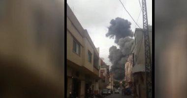 اللقطات الأولى لانفجار موقع لـ حزب الله فى بلدة عين قانا جنوب لبنان
