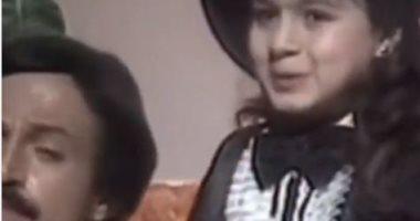 نجلاء بدر فى طفولتها بفيديو نادر من فوازير فطوطة مع سمير غانم