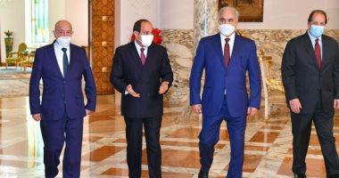 السيسى يطلع على التطورات بليبيا وجهود كافة الأطراف لتنفيذ وقف إطلاق النار.. فيديو