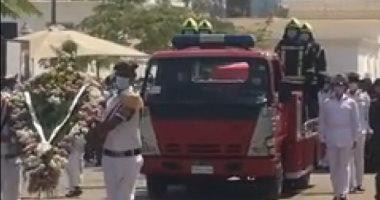 تشييع جنازة عمرو عبد المنعم شهيد حادث طرة