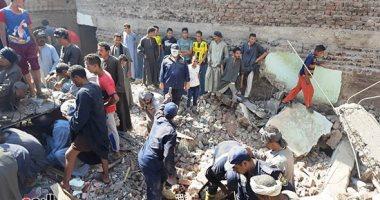 فيديو وصور.. ننشر أسماء المتوفين والمصابين فى حادث انهيار منزل بسوهاج