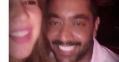 أحمد فلوكس فى أحدث ظهور له مع زوجته.. فيديو وصور
