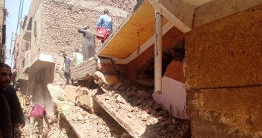 مصرع 6 وإصابة 3 آخرين في انهيار منزل من طابقين بمركز سوهاج