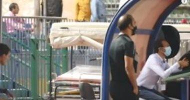شاهد سيد عبد الحفيظ يعترض على ركلة جزاء نادى مصر