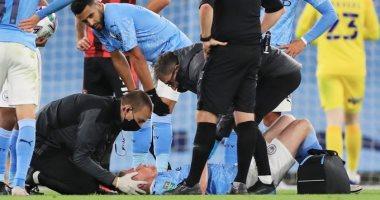جوارديولا يكشف تفاصيل إصابة دى بروين فى مباراة مانشستر سيتي بالكأس