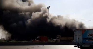 حريق هائل فى مجمع لحفظ الحاصلات الزراعية بالبحيرة.. صور