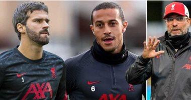 ليفربول مهدد بغياب ألكانتارا وأليسون عن مواجهة أرسنال غداً