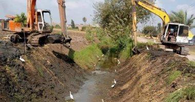 رى القليوبية : إستمرار  تطهير الترع لتسهيل سير المياه ووصولها للفلاح